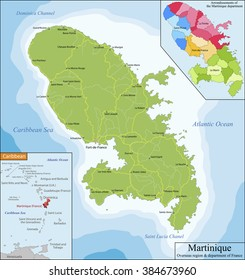 Map of Martinique