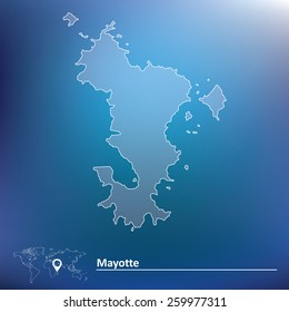 Map of Mayotte - vector illustration