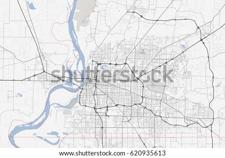 Map Memphis City Tennessee Road Stock Vector (Royalty Free ...
