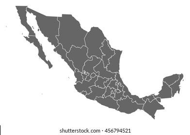 Imágenes Fotos De Stock Y Vectores Sobre República Mexicana Mapa