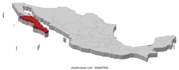 Icono Mapa Mexico Png: Baja California Border Images, Stock Photos & Vectors