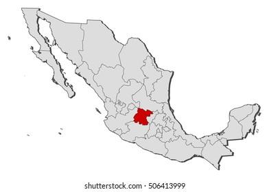 Map - Mexico, Guanajuato