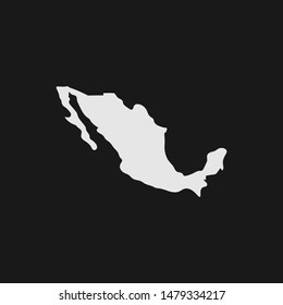Map of Mexico. Mexican country border shape.