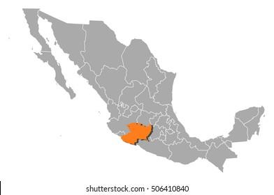 Map - Mexico, Michoacan