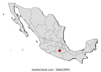 Map - Mexico, Morelos