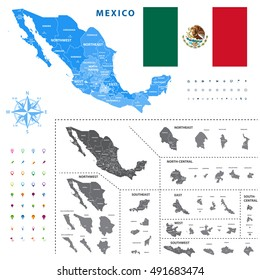 Queretaro Map Stock Images RoyaltyFree Images Vectors Shutterstock