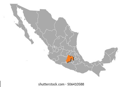 Map - Mexico, State of Mexico