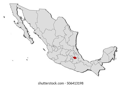 Map - Mexico, Tlaxcala
