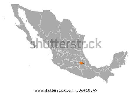Map Mexico Tlaxcala Stock Vector Royalty Free 506410549 Shutterstock