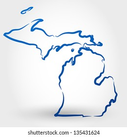 map of michigan. map concept