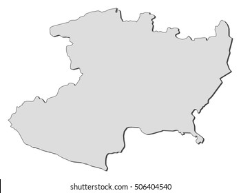 Michoacan State Map.Michoacan Outline Images Stock Photos Vectors Shutterstock