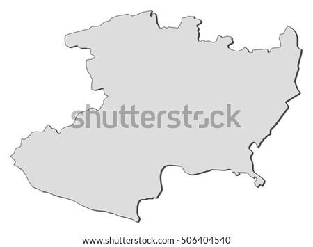 Map Michoacan Mexico Stock Vector (Royalty Free) 506404540 ...