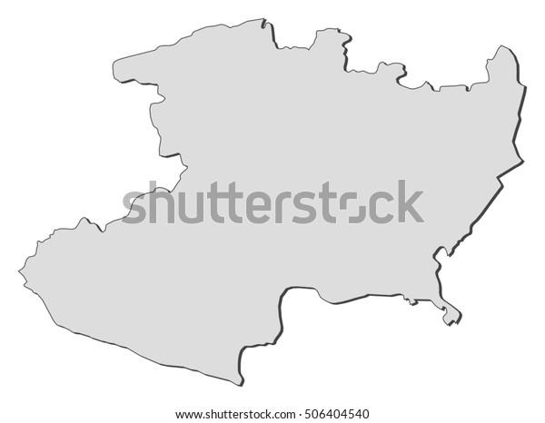Map Michoacan Mexico Stock Vector (Royalty Free) 506404540