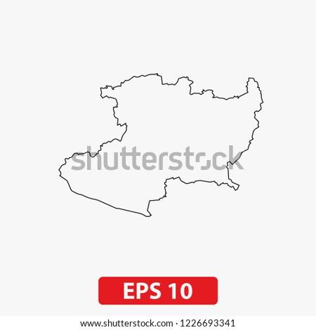 Map Michoacan Mexico Vector Stock Vector Royalty Free 1226693341