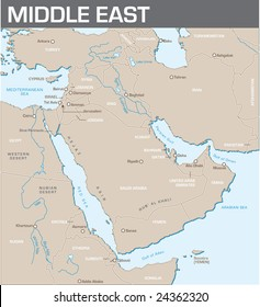 Karte des Nahen Ostens