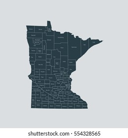 map of Minnesota