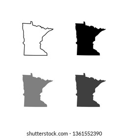 map of Minnesota. Vector illustration