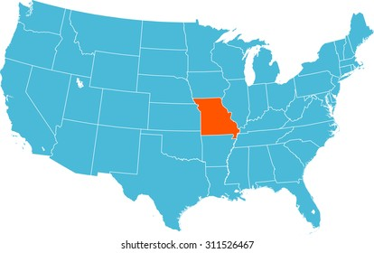missouri map Images, Stock Photos & Vectors | Shutterstock