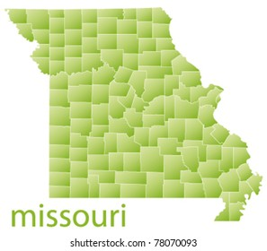 map of missouri state, usa