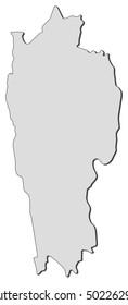 Map - Mizoram (India)