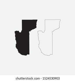 Map of Mohave County - Arizona - United States graphic element Illustration template design