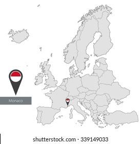 Gray Map Monaco Images Stock Photos Vectors Shutterstock