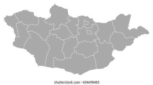 Map - Mongolia