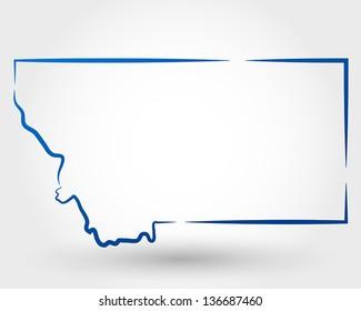 montana outline images stock photos vectors shutterstock