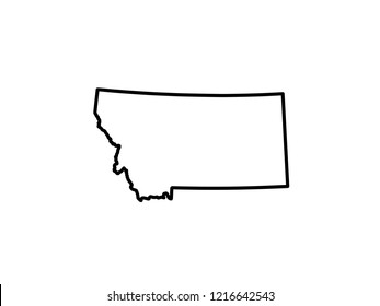 Map of Montana. vector illustration
