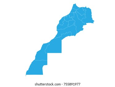 Map of morocco. High detailed vector map - morocco.