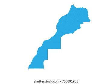 Map of morocco Western Sahara. High detailed vector map - morocco Western Sahara.