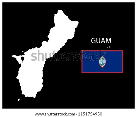 Map National Flag Guam US Map Guam Stock Vector (Royalty Free ...