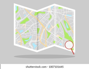 Map. Navigation. Vector illustration.