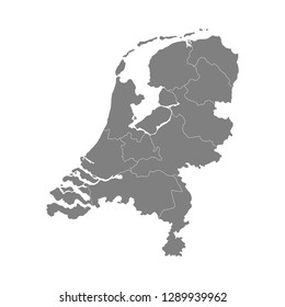 Map of Netherlands, Holland. Vector