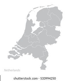 Map of Netherlands, Holland. Vector.