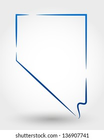 map of nevada. map concept