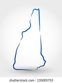 map of new hampshire. map concept