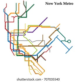 City Subway Map Art.New York Subway Map Stock Illustrations Images Vectors Shutterstock