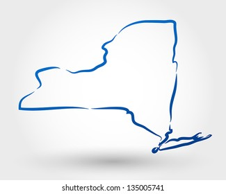 map of new york. map concept