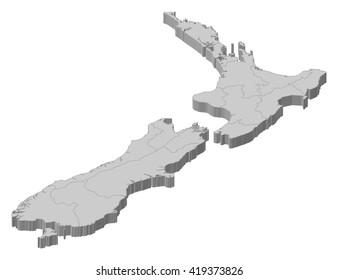 3d Map Of New Zealand.New Zealand Map 3d Images Stock Photos Vectors Shutterstock