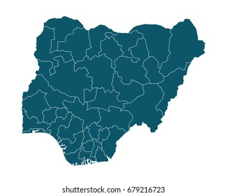 Nigeria map images stock photos vectors shutterstock map of nigeria high detailed on white background abstract design vector illustration eps 10 ccuart Choice Image