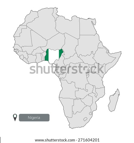 Africa Map Nigeria.Map Nigeria Official Flag Location On Stock Vector Royalty Free