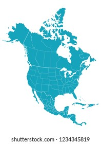Map of North America
