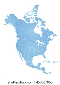 north america map vector images stock photos vectors shutterstock rh shutterstock com north america vector map download north american free vector map