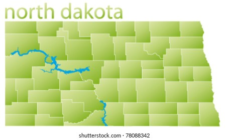 Map Of North Dakota Images, Stock Photos & Vectors | Shutterstock