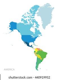 Ilustraciones, imágenes y vectores de stock sobre Mapa America Del ...