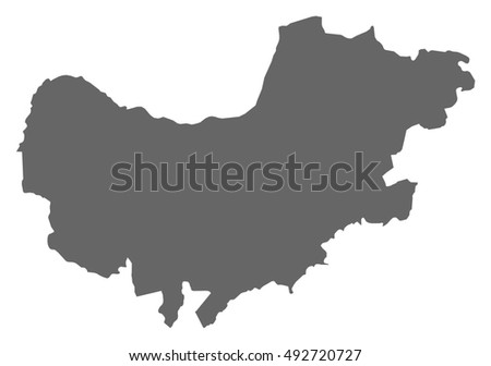 South Africa North West Map.Map North West South Africa Stock Image Download Now