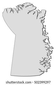 Map - Northeast Greenland National Park (Greenland)