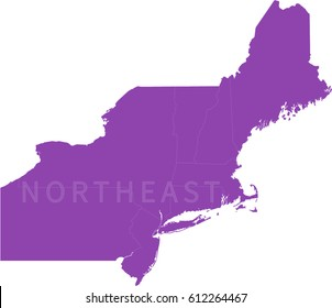 Map of Northeastern US