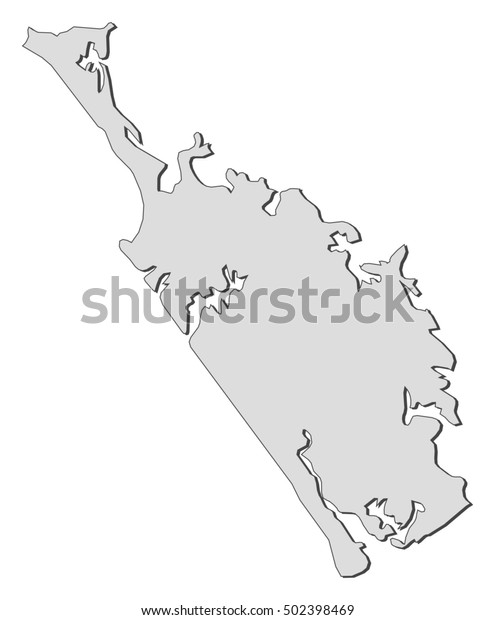 Northland New Zealand Map.Map Northland New Zealand Stock Vector Royalty Free 502398469